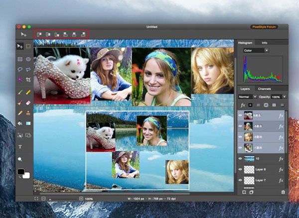 PixelStyle Photo Editor Mac OSX 1 - PixelStyle Photo Editor Mac - Retouche Photo et llustration (gratuit)