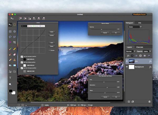 PixelStyle Photo Editor Mac OSX 3 - PixelStyle Photo Editor Mac - Retouche Photo et llustration (gratuit)