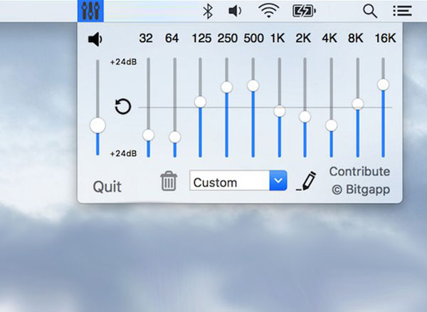 eqMac OSX : Égaliseur iTunes et Spotify dans la Barre des