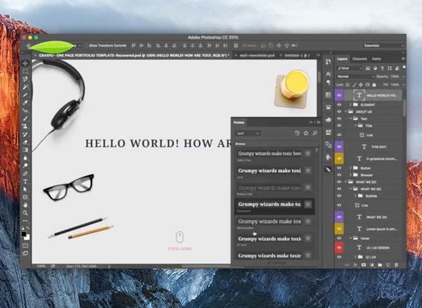 fontea plugin fonts google photoshop mac osx pc gratuit 1 - Ce Plugin Photoshop donne Accès à 700 Fonts Google (gratuit)