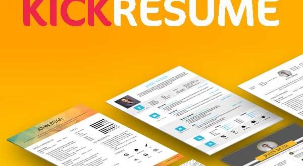 KickResume, Créer des CV de Pros et Gérer les en Ligne (gratuit)