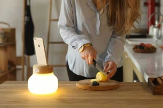 mushroom lampe led ambiance chargeur iphone 2 331x219 - Lampe d'Ambiance Ecolo avec Chargeur iPhone sans Fil (video)