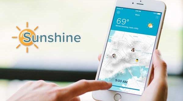 Sunshine iPhone : Station Météo Collaborative et Sociale (gratuit)