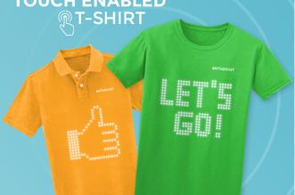 t-shirt-polo-connecte-led-affichage-smartphone-iphone-1
