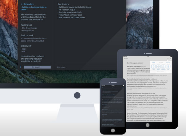 simplenote automatic iphone ipad mac gratuit 1 - SimpleNote Mac iPhone iPad - Bloc Notes avec Cloud (gratuit)