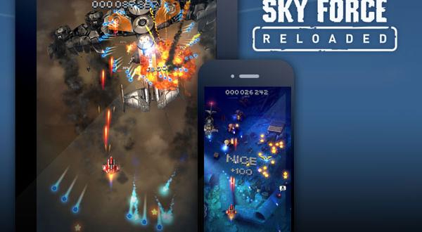 Sky Force Reloaded iPhone iPad : Jeu de Tir à Couper le Souffle (gratuit)