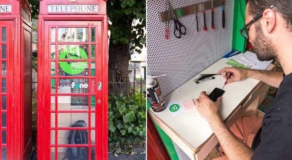 Réparer l'iPhone dans les Cabines Téléphoniques de Londres (images)