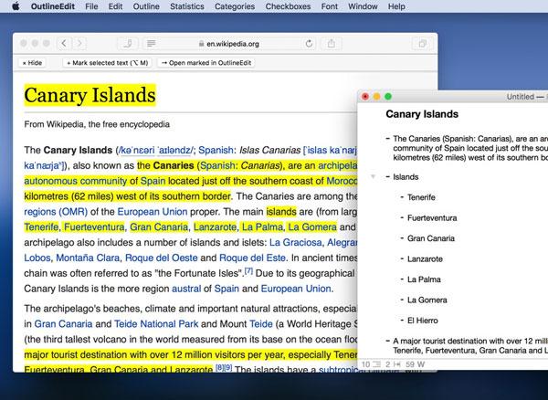 outlineedit macos mac os gratuit 02 - OutlineEdit macOS Organise et Structure vos Idées (gratuit)