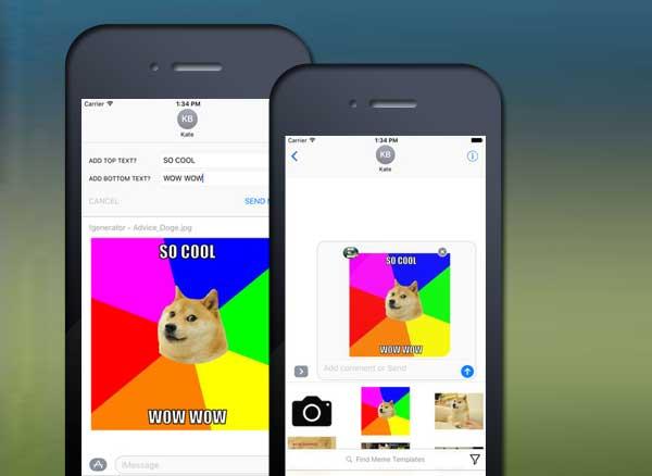 meme maker imessage iphone ipad 2 - Meme Maker iMessage iPhone iPad : Générateur d'Images Mème (gratuit)