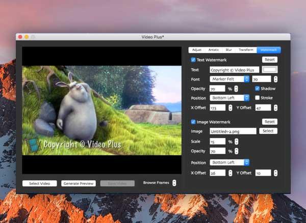 video plus macos mac 1 - Video Plus Mac - Edition, Effets et Marquage Vidéo (gratuit)