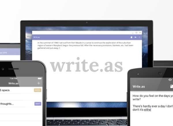write as ios macos mac iphone ipad 1 - Write.as, la Plateforme de Blog Privée et Anonyme (gratuit)