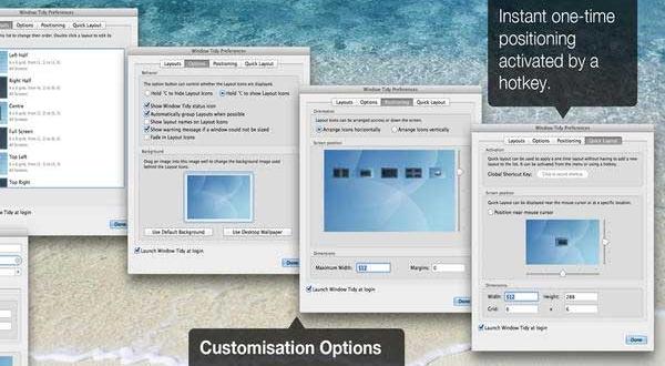 Window Tidy Mac Range vos Fenêtres Intelligemment (gratuit)