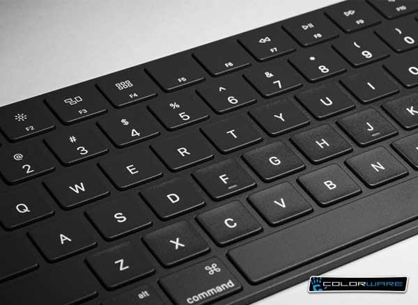 colorware clavier apple trackpad souris noir 2 - Clavier Magic Keyboard et Magic TrackPad en Noir c'est plus Chic ! (images)