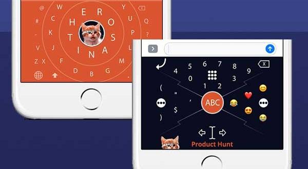 HERO One-handed iPhone iPad : Clavier Alternatif Circulaire (gratuit)