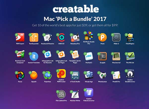 Creatable Bundle Mac Spring Printemps 2017
