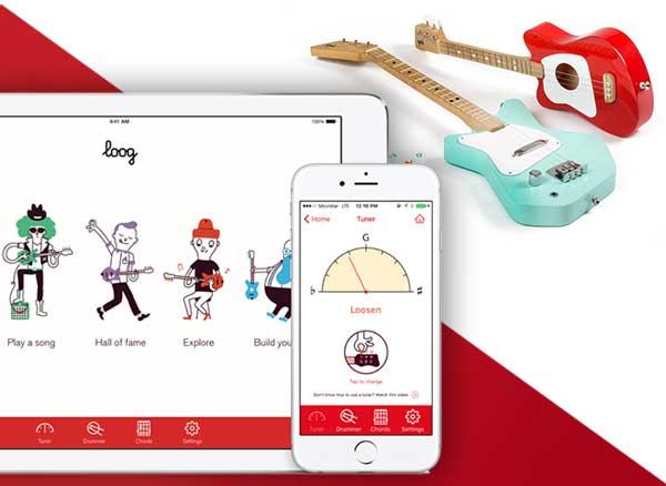 Loog Guitare Connectee iPhone
