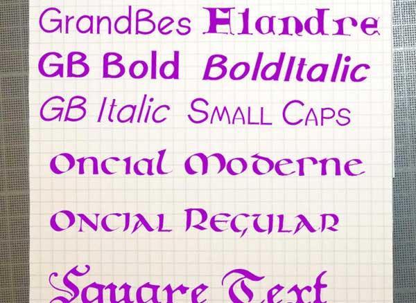 Calligraphic Fonts macOS Mac