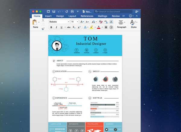 Resume Mate Mac 200 Modeles De Cv Pour Word Et Pages Gratuit Maxiapple Com