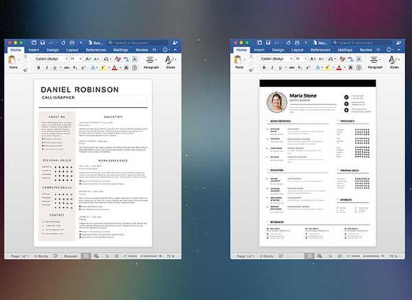 esume mate templates design pages word 2 - Resume Mate Mac : 200 Modèles de CV pour Word et Pages (gratuit)