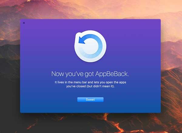AppBeBack Mac