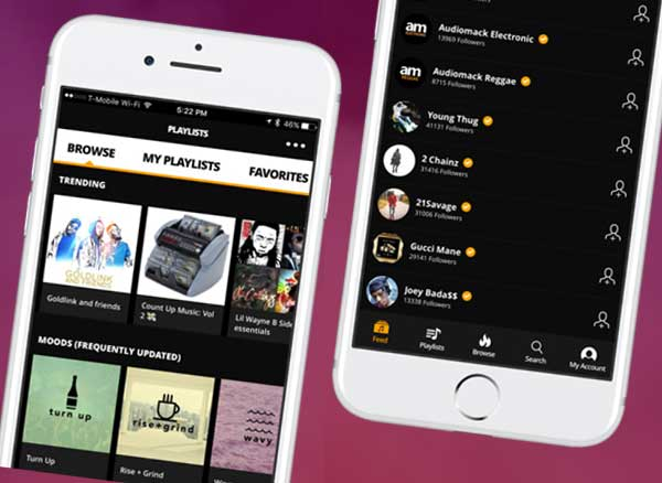 Audiomack iPhone Web