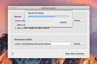 EXIF Untrasher Mac