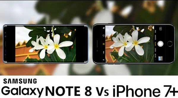 Galaxy Note 8 vs iPhone 7 Plus Capteur Video