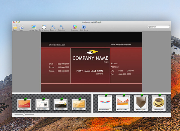Biz Card Templates Photoshop Mac