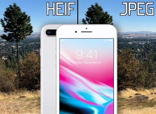 HEIF vs JPEG iPhone iOS 11