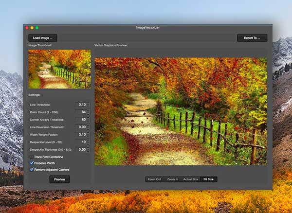 Image2Vector Mac