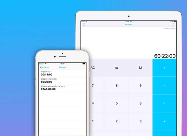 Time Calc iPhone iPad