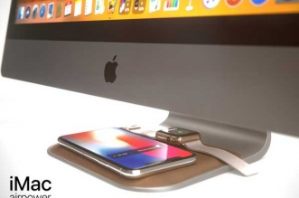concept imac airpower chargeur iphonex