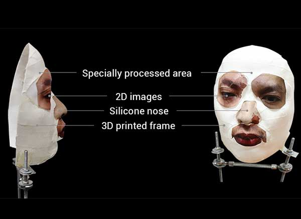hack face id iphone x masque