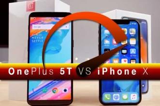 Comparatif Vitesse iPhone X vs OnePlus 5T