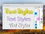 Text Styles Mac