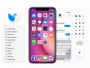 facebook design ios11 iphone x maquettes psd sketch