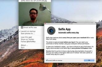 Selfie App Mac