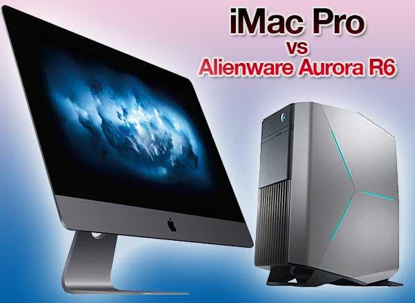 comparatif imac pro aurora alienware pc mac