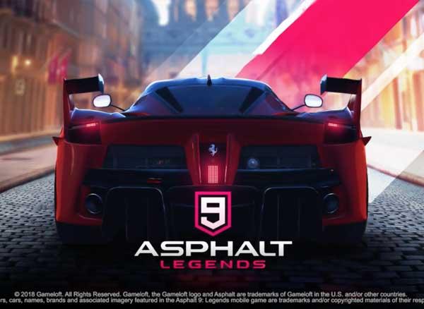 Jeu Asphalt 9 Legends iPhone iPad