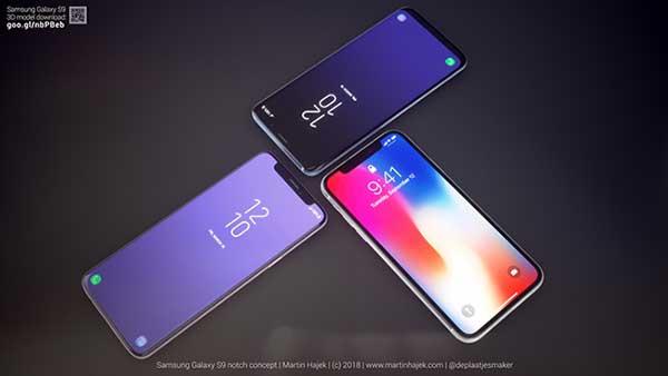 concept samsung galaxy encoche iphone x copie