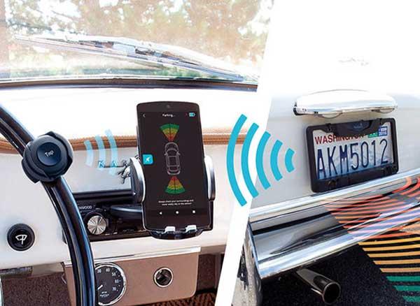 fensens aide stationnement support connecte iphone 1 - Devenez un Pro du Créneau avec cet Accessoire et l'iPhone (video)