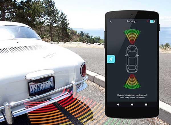 fensens aide stationnement support connecte iphone 2 - Devenez un Pro du Créneau avec cet Accessoire et l'iPhone (video)
