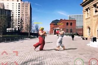 Jeu Street Fighter Arkit Realite Augmentee iPhone