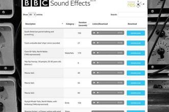 BBC Sound Effects Son Audio Gratuit
