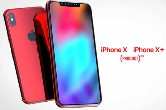 iphone x plus concept product red rouge