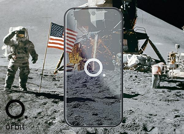 orbit concept smartphone transparent