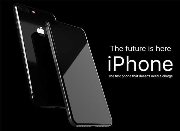 iphone concept sans encoches solaire fil x 9 plus