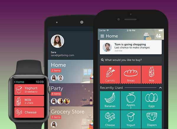 bring shopping list iphone ipad