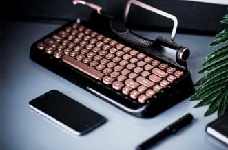 rymek clavier mecanique retro bluetooth led iphone ipad mac