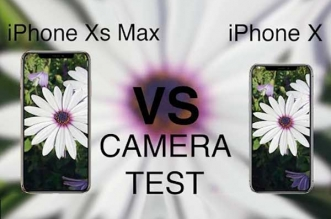 comparatif photographie iphone x xs max video